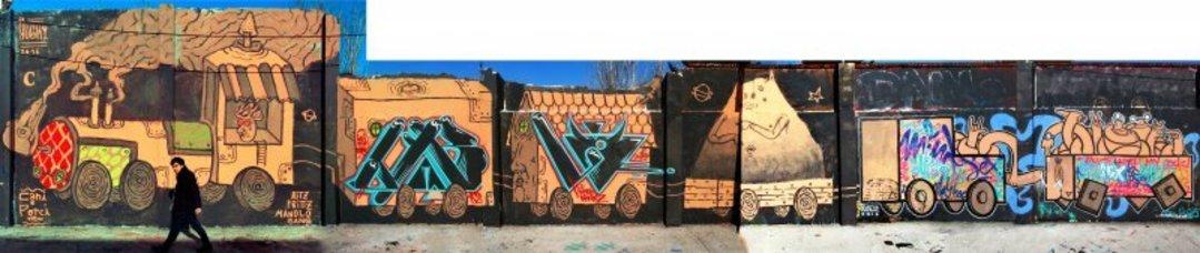 "Wallspot - ANTON SEOANE ""ROKE"" - Agricultura - ROKE - Barcelona - Agricultura - Graffity - Legal Walls - Letters, Illustration"