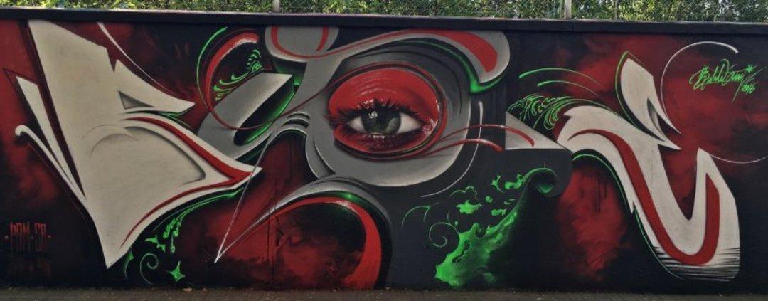 Wallspot - Bublegum -  - Barcelona - Agricultura - Graffity - Legal Walls - Letters, Illustration