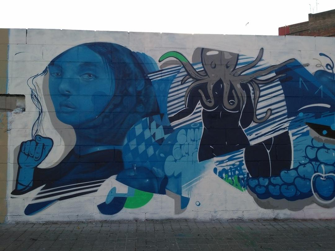 Wallspot - evalop - evalop - Project 01/04/2017 - Barcelona - Poble Nou - Graffity - Legal Walls - Il·lustració