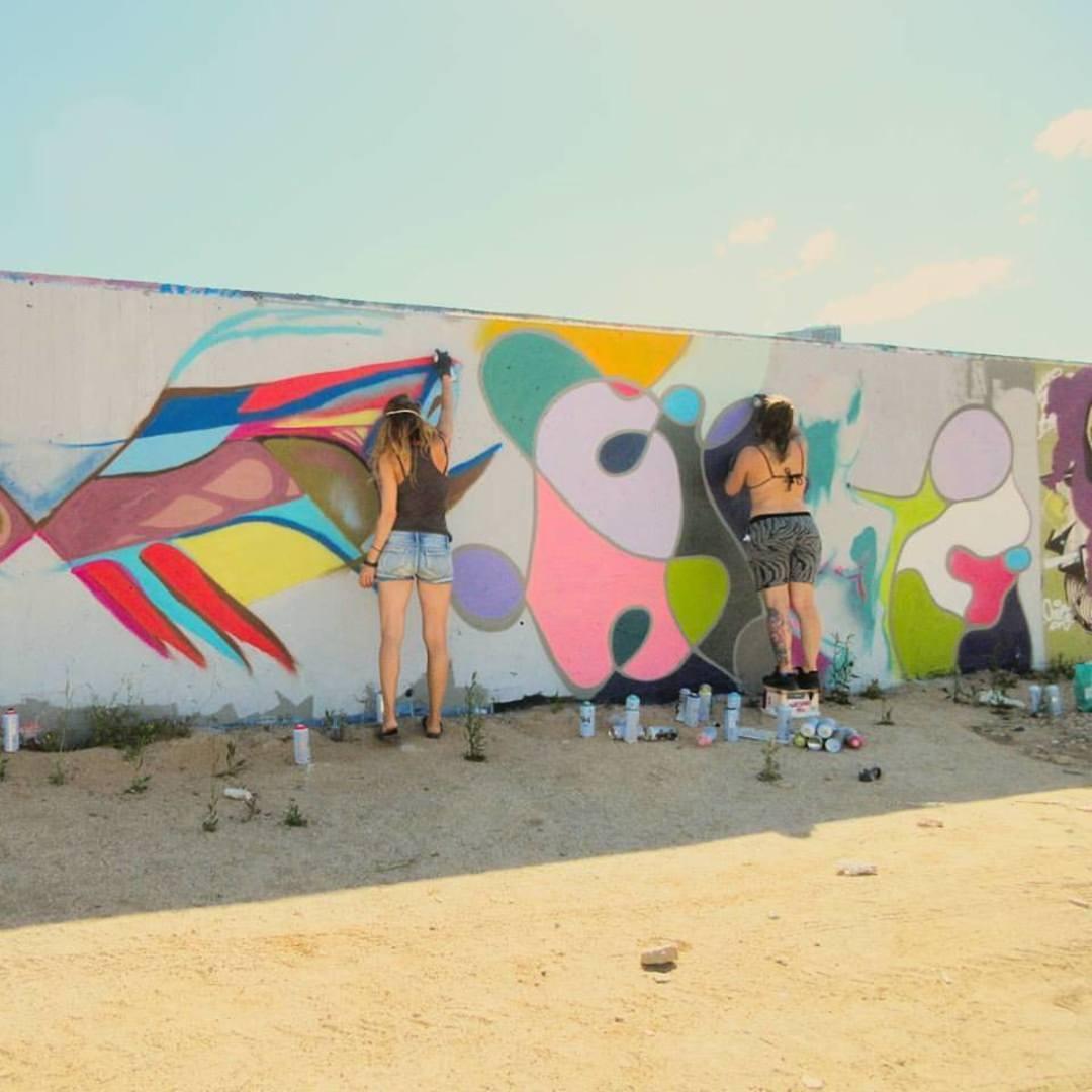 Wallspot - Audifax - Forum beach - Audifax (Alongside Bubu) - Barcelona - Forum beach - Graffity - Legal Walls -