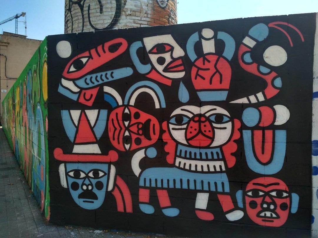 Wallspot - evalop - evalop - Proyecto 17/07/2017 - Barcelona - Poble Nou - Graffity - Legal Walls - Illustration
