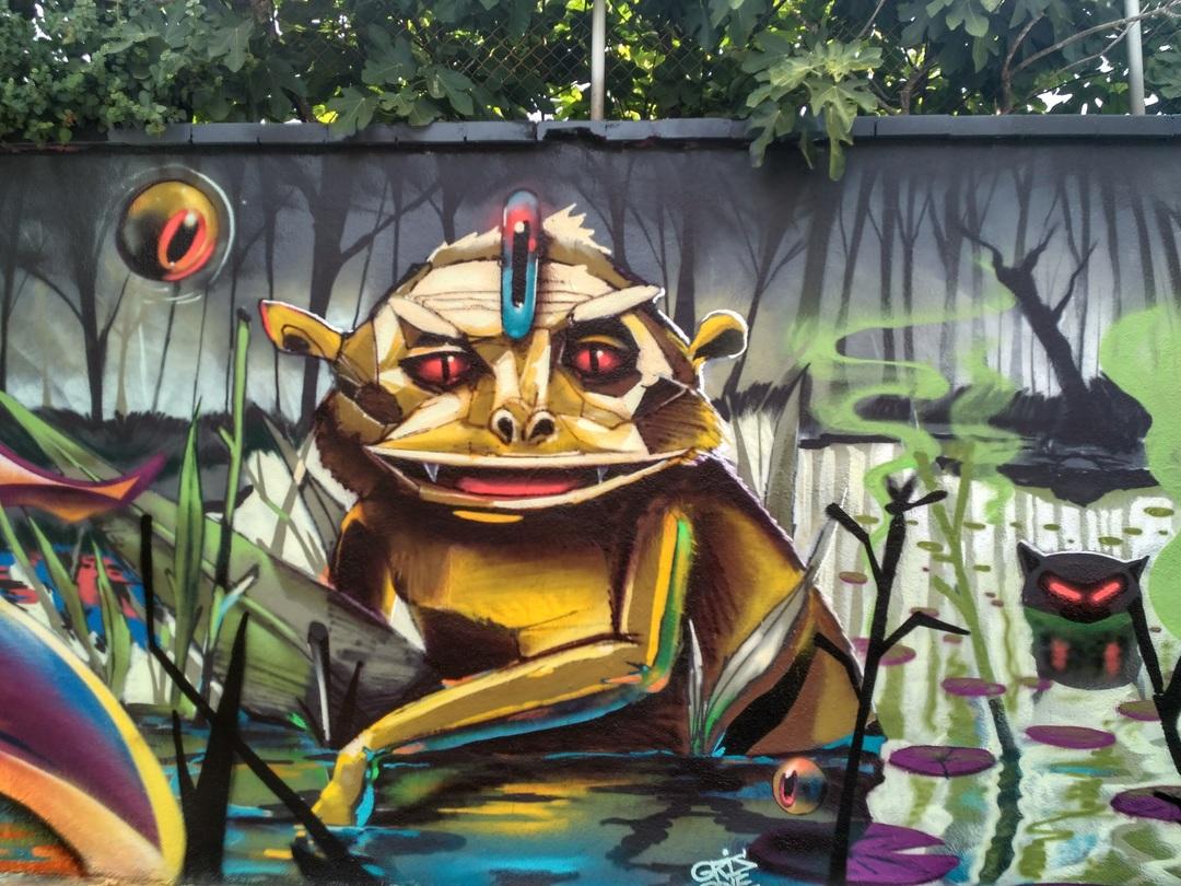 Wallspot - evalop - evalop - Project 03/08/2017 - Barcelona - Agricultura - Graffity - Legal Walls - Il·lustració