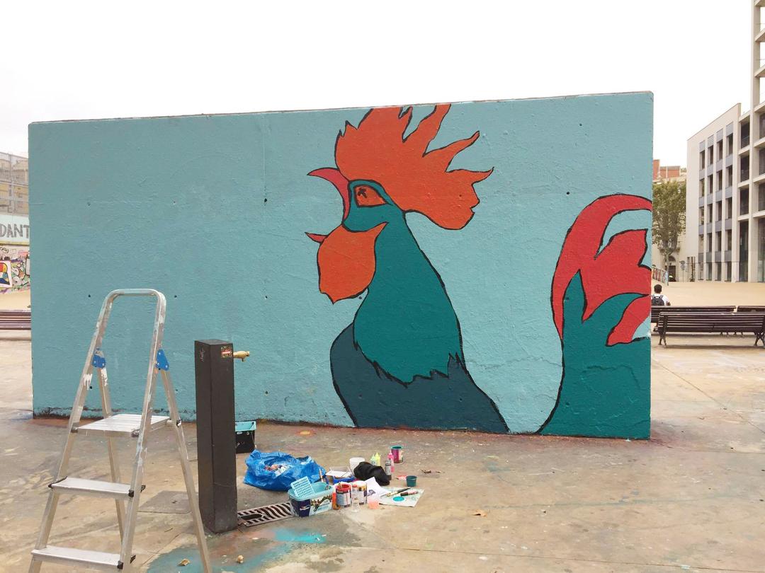 Wallspot - Sandrobedini - Tres Xemeneies - Sandrobedini - Barcelona - Tres Xemeneies - Graffity - Legal Walls - Altres