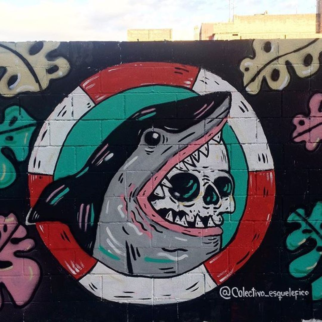 Wallspot - henrysaenz - shark - Barcelona - Poble Nou - Graffity - Legal Walls - Illustration