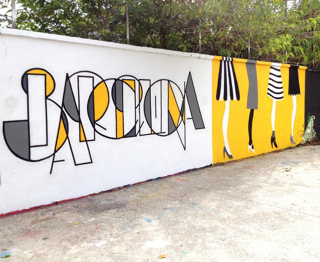 Wallspot - EmilyE - Agricultura - EmilyE & Copenhagen Signs - Barcelona - Agricultura - Graffity - Legal Walls - Letters, Illustration, Others
