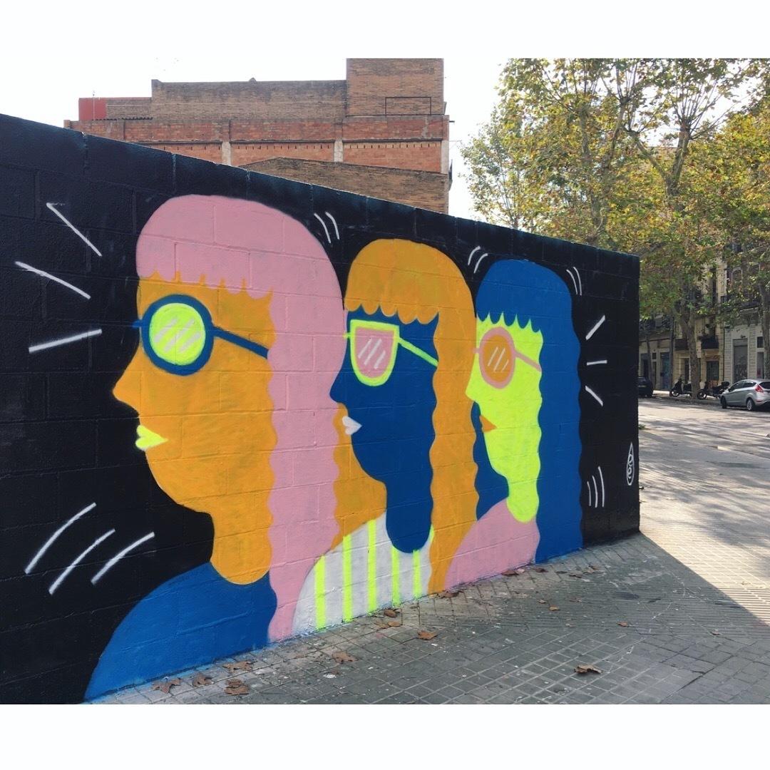 Wallspot - EmilyE - Poble Nou - EmilyE - Barcelona - Poble Nou - Graffity - Legal Walls - Illustration