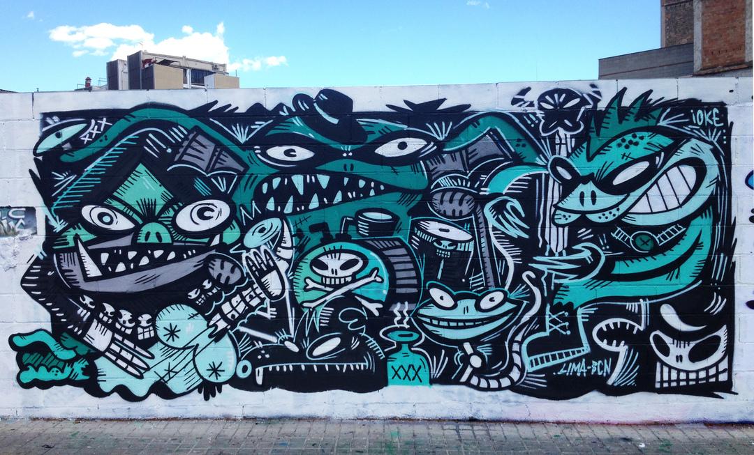 Wallspot - ioke - Poble Nou - ioke - Barcelona - Poble Nou - Graffity - Legal Walls -