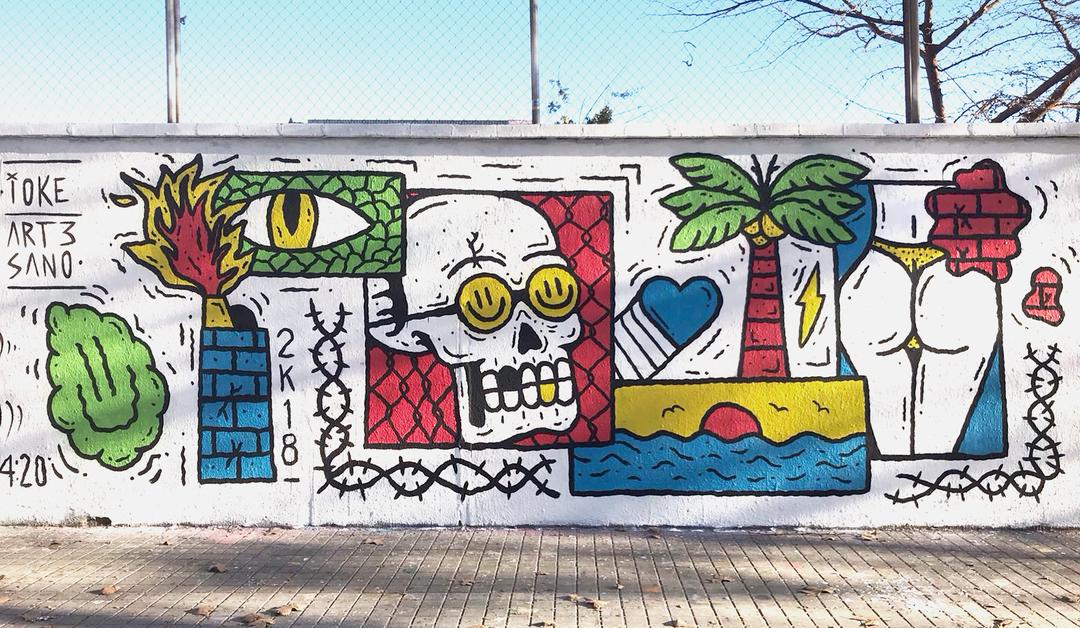Wallspot - art3sano - Agricultura - art3sano - Barcelona - Agricultura - Graffity - Legal Walls - Letters, Illustration, Others