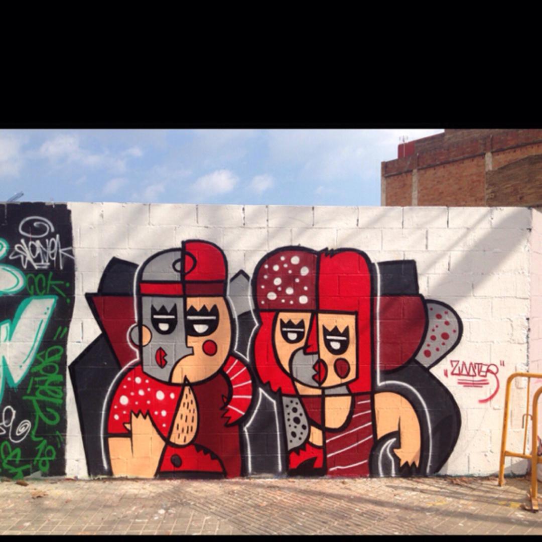 Wallspot - ZOOTER_NC - Poble Nou - Barcelona - Poble Nou - Graffity - Legal Walls - Illustration