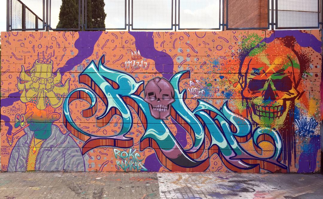 """Wallspot - ANTON SEOANE """"ROKE"""" - Drassanes - ROKE - Barcelona - Drassanes - Graffity - Legal Walls - Letters"""