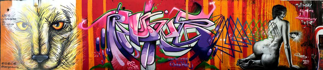 """Wallspot - ANTON SEOANE """"ROKE"""" - Selva de Mar - ROKE - Barcelona - Selva de Mar - Graffity - Legal Walls - Letters"""