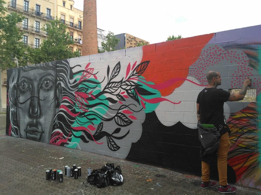 Wallspot - evalop - evalop - Project 03/05/2018 - Barcelona - Poble Nou - Graffity - Legal Walls - Illustration - Artist - tico canato