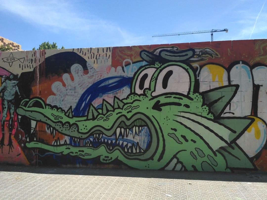 Wallspot - evalop - evalop - Proyecto 15/05/2018 - Barcelona - Poble Nou - Graffity - Legal Walls - Ilustración