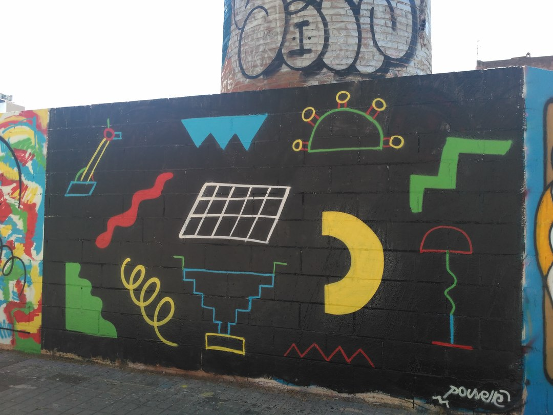 Wallspot - evalop - evalop - Proyecto 15/05/2018 - Barcelona - Poble Nou - Graffity - Legal Walls - Illustration