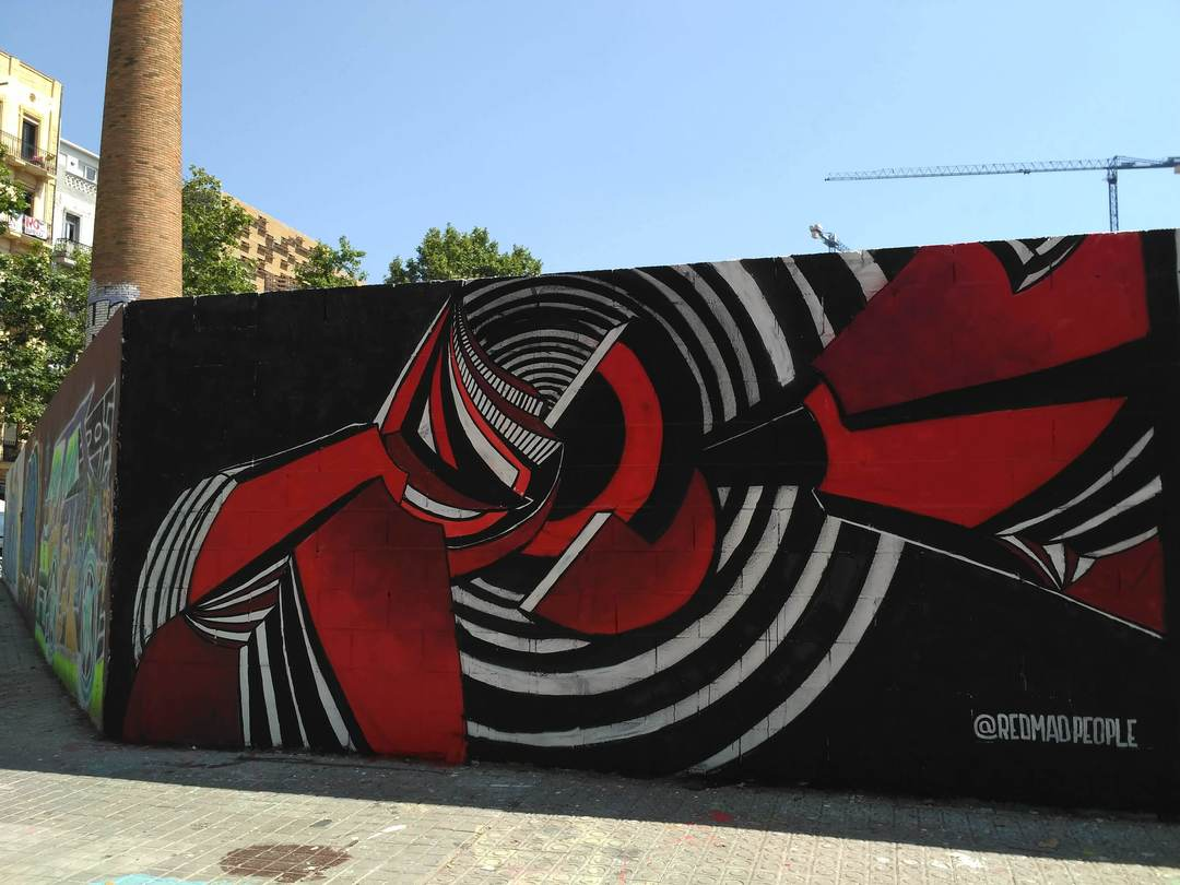 Wallspot - evalop - evalop - Proyecto 04/06/2018 - Barcelona - Poble Nou - Graffity - Legal Walls - Illustration - Artist - redmadpeople