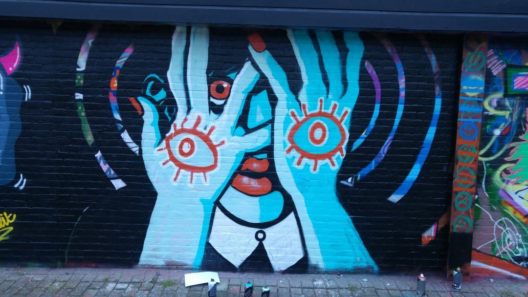 Wallspot - Sterric - It's all too much. - Rotterdam - Croos - Graffity - Legal Walls -