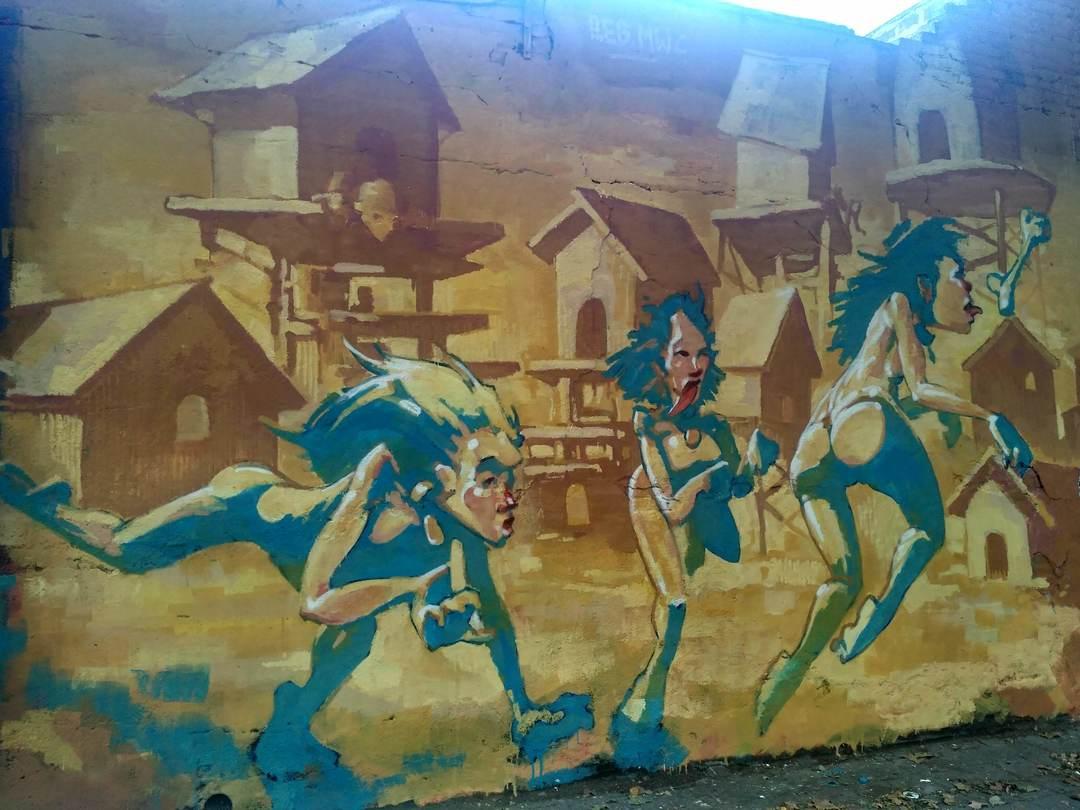 Wallspot - evalop - evalop - Project 24/07/2018 - Barcelona - Selva de Mar - Graffity - Legal Walls - Illustration - Artist - reb.mwc