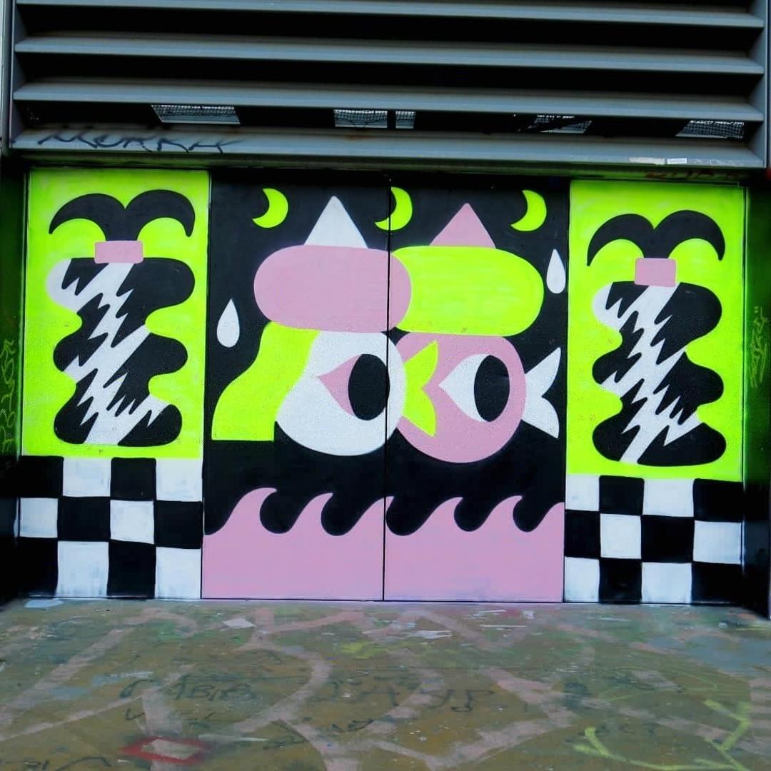 Wallspot - Osier Luther - <3 - Barcelona - Tres Xemeneies - Graffity - Legal Walls - Il·lustració