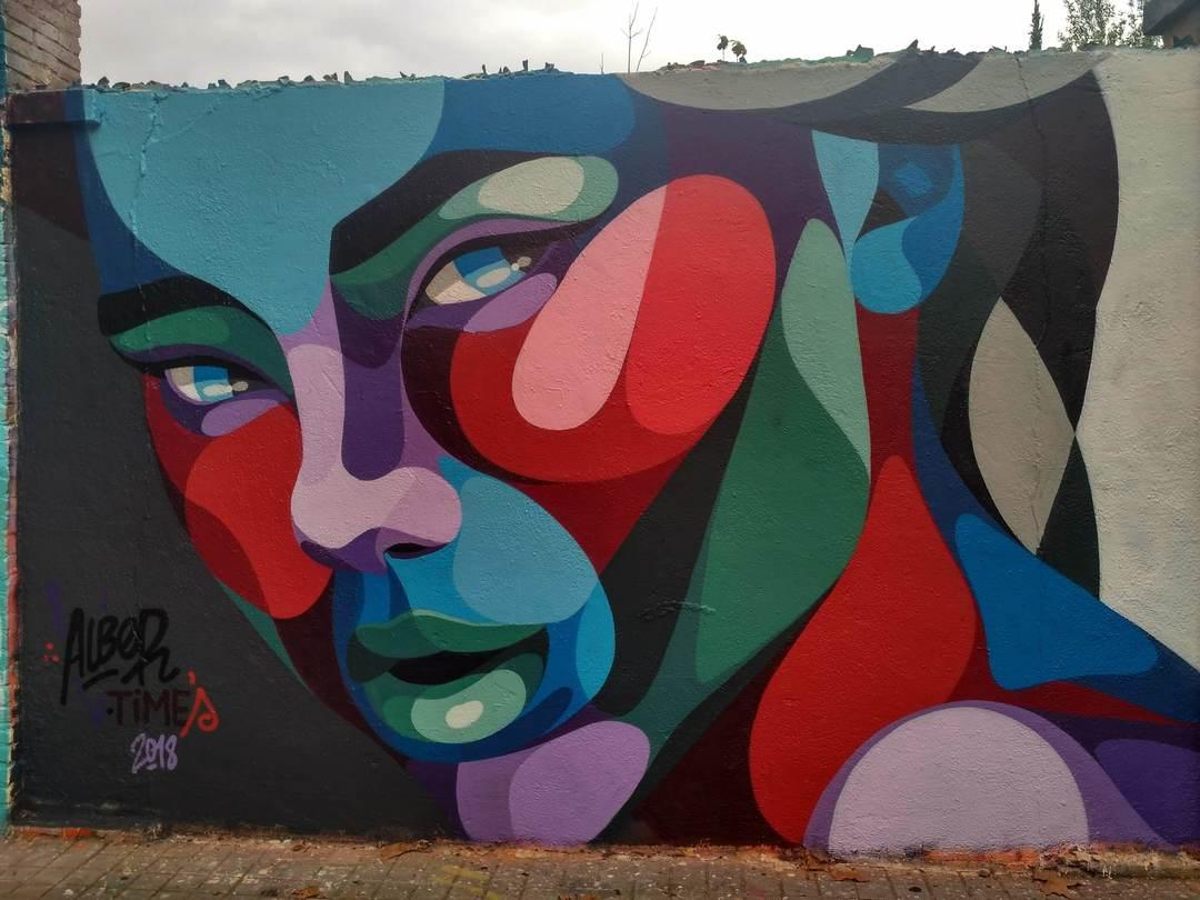 Wallspot - evalop - Alber V Times - Barcelona - Agricultura - Graffity - Legal Walls - Illustration