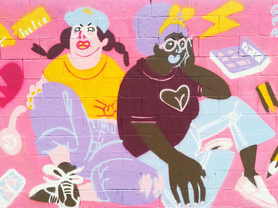 Wallspot - gemfontanals - Back to School - Barcelona - Poble Nou - Graffity - Legal Walls - Il·lustració