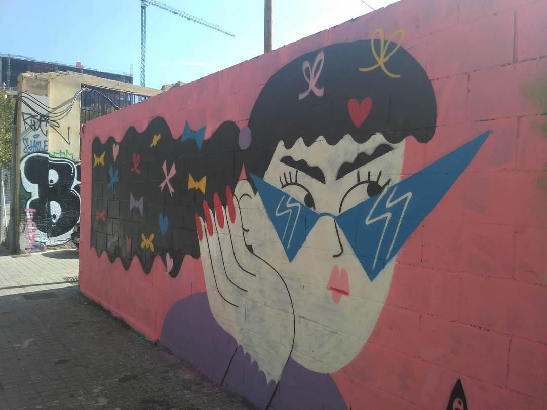 Wallspot - evalop - evalop - Proyecto 18/09/2018 - Barcelona - Poble Nou - Graffity - Legal Walls - Illustration - Artist - EmilyE