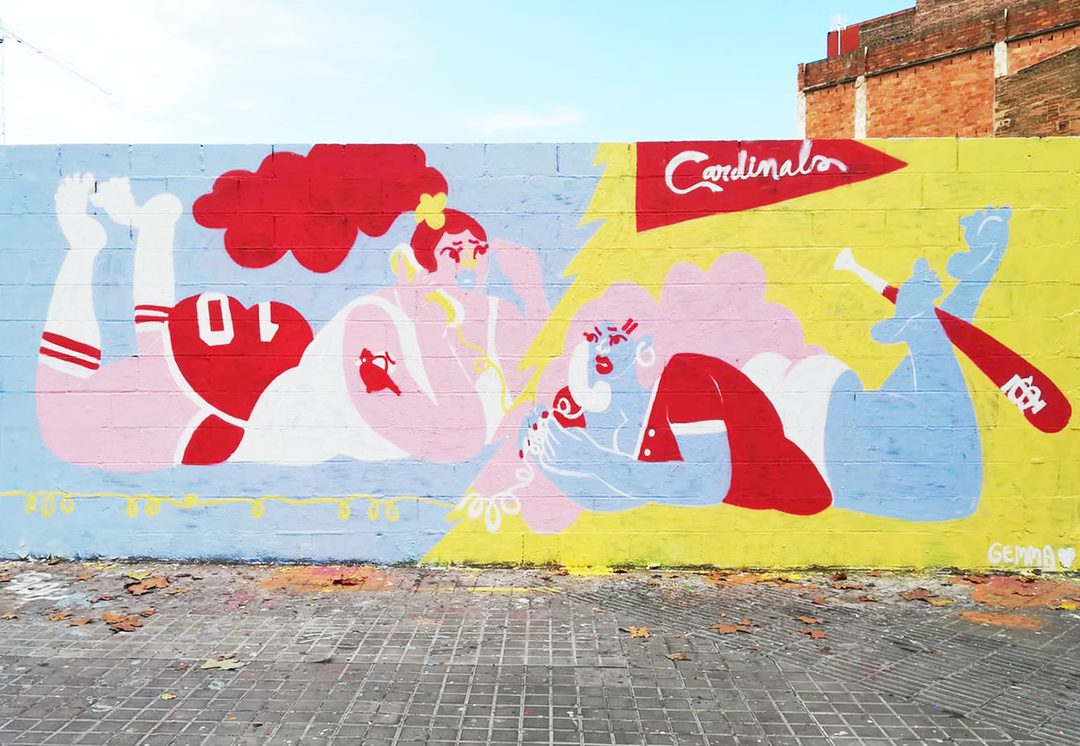 Wallspot - gemfontanals - About Next Game - Barcelona - Poble Nou - Graffity - Legal Walls - Illustration