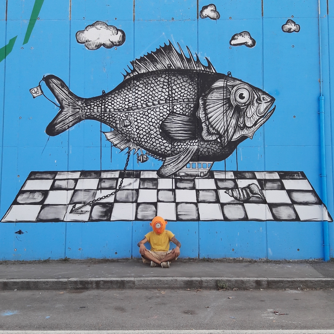 Wallspot - Pepecoibermuda - Ponte Europa: Segni Urbani. Parma, Italia - Pepecoibermuda - Parma - Ponte Europa: Segni Urbani. Parma, Italia - Graffity - Legal Walls - Letters, Illustration