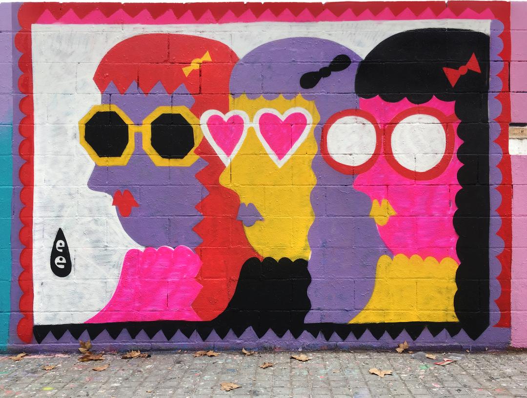 Wallspot - EmilyE - Turtle Power - Barcelona - Poble Nou - Graffity - Legal Walls - Illustration