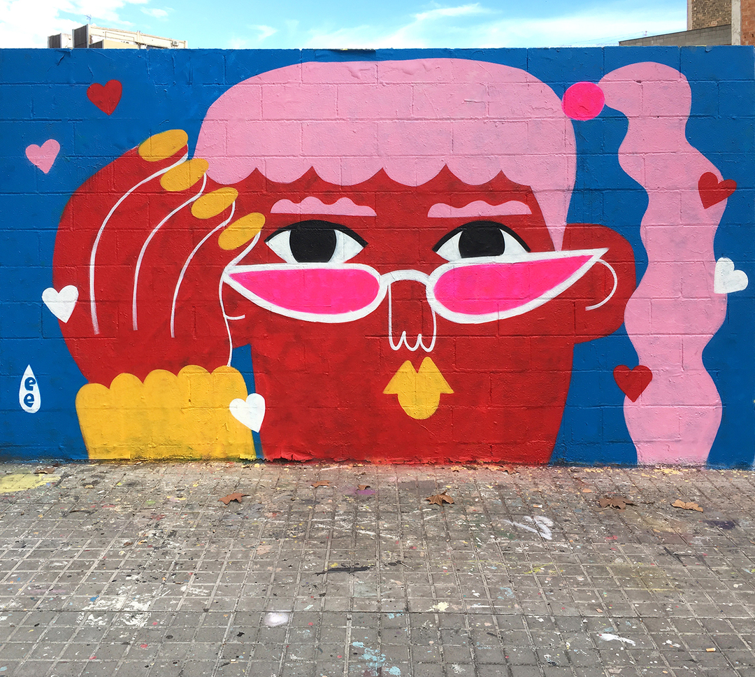 Wallspot - EmilyE - Crush - Barcelona - Agricultura - Graffity - Legal Walls - Illustration
