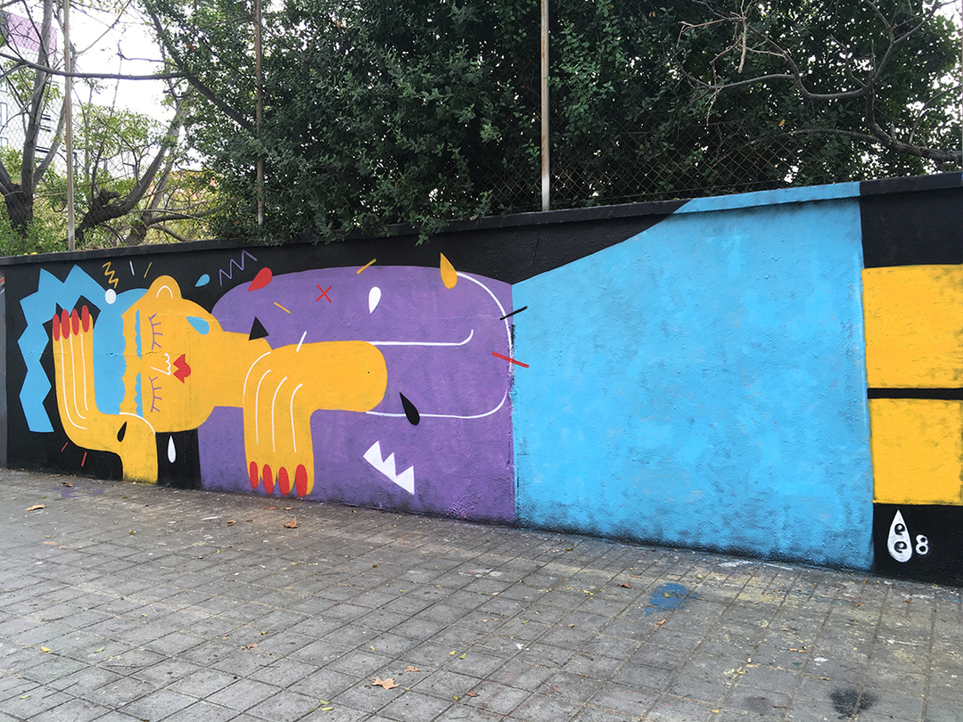 Wallspot - EmilyE - 2 Blessed 2 Be Stressed - Barcelona - Agricultura - Graffity - Legal Walls - Illustration