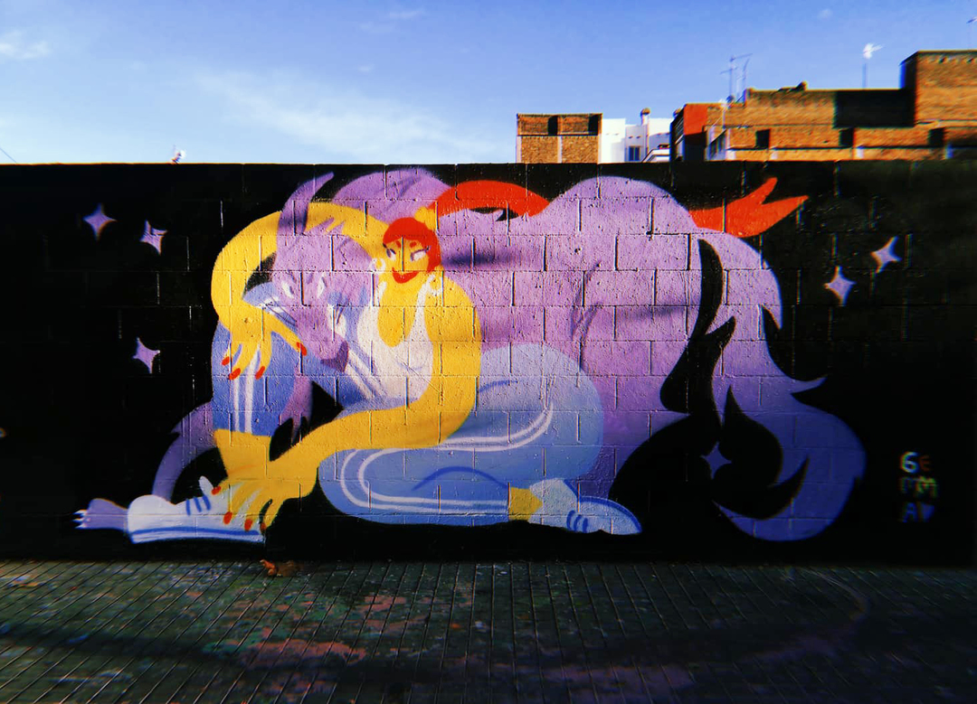 Wallspot - gemfontanals - Wild Thing - Barcelona - Poble Nou - Graffity - Legal Walls - Illustration