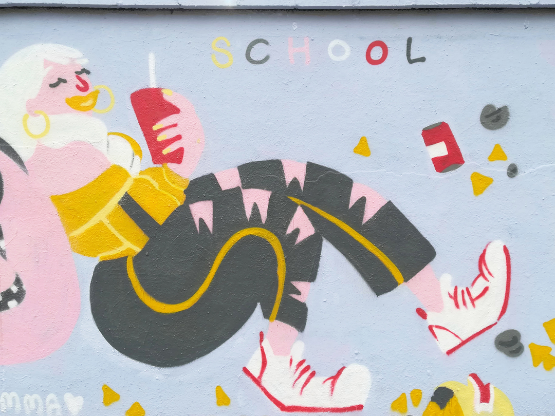 Wallspot - gemfontanals - Skipping School - Barcelona - Agricultura - Graffity - Legal Walls - Illustration