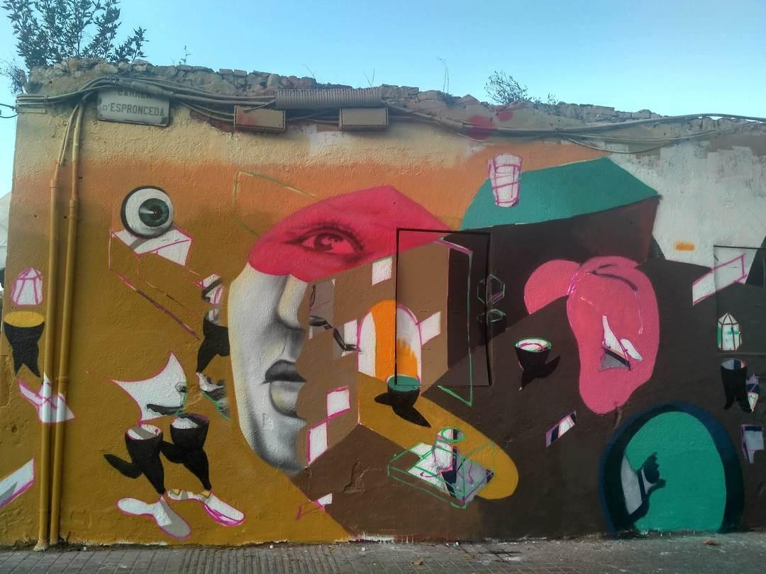 Wallspot - evalop - evalop - Project 22/02/2019 - Barcelona - Western Town - Graffity - Legal Walls - Illustration - Artist - Magda Ćwik