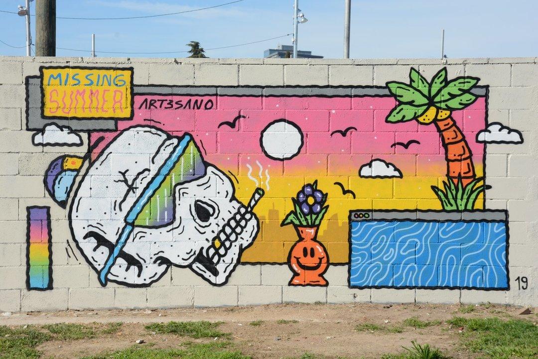 Wallspot - art3sano - Missing Summer - Barcelona - Parc de la Bederrida - Graffity - Legal Walls - Letters, Illustration, Others