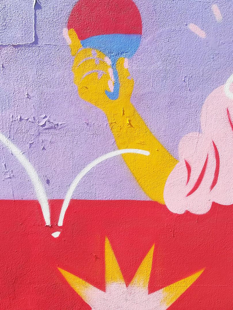 Wallspot - gemfontanals - Ping Pong - Barcelona - Parc de la Bederrida - Graffity - Legal Walls - Illustration