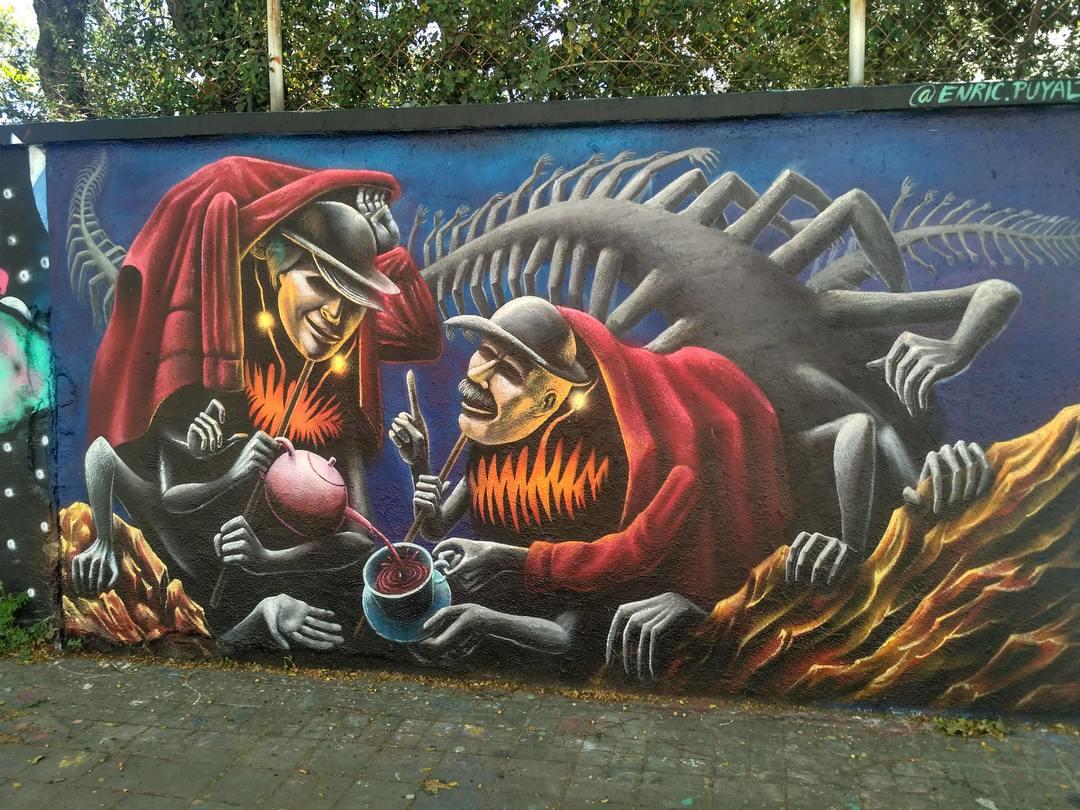 Wallspot - evalop - Enric Pueyo - Barcelona - Agricultura - Graffity - Legal Walls - Illustration