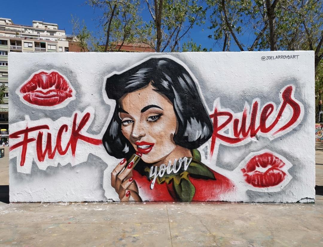 Wallspot - Joelarroyo - Tres Xemeneies - Barcelona - Tres Xemeneies - Graffity - Legal Walls - Ilustración