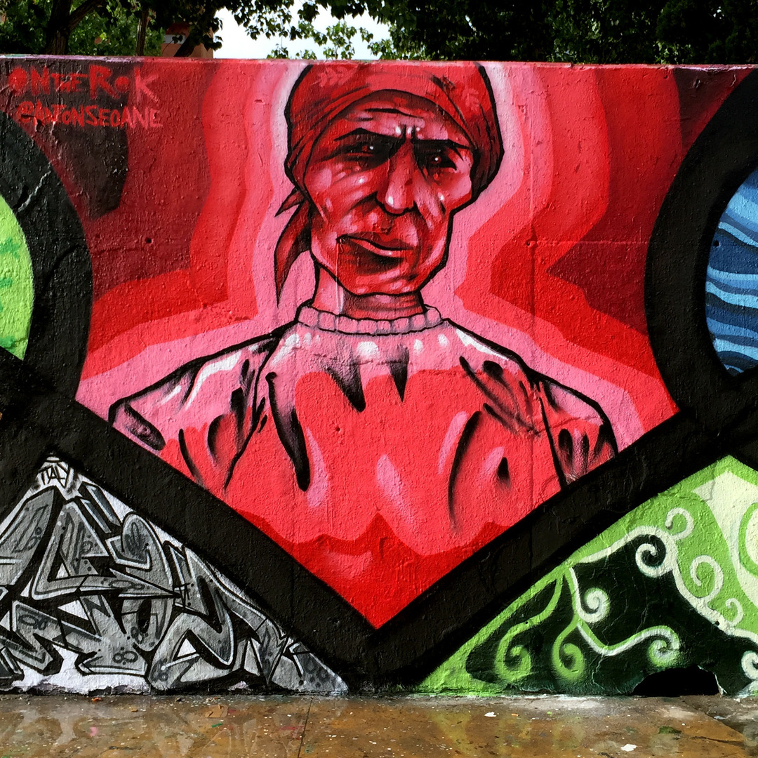 "Wallspot - ANTON SEOANE ""ROKE"" - Tres Xemeneies - ROKE - Barcelona - Tres Xemeneies - Graffity - Legal Walls - Illustration"