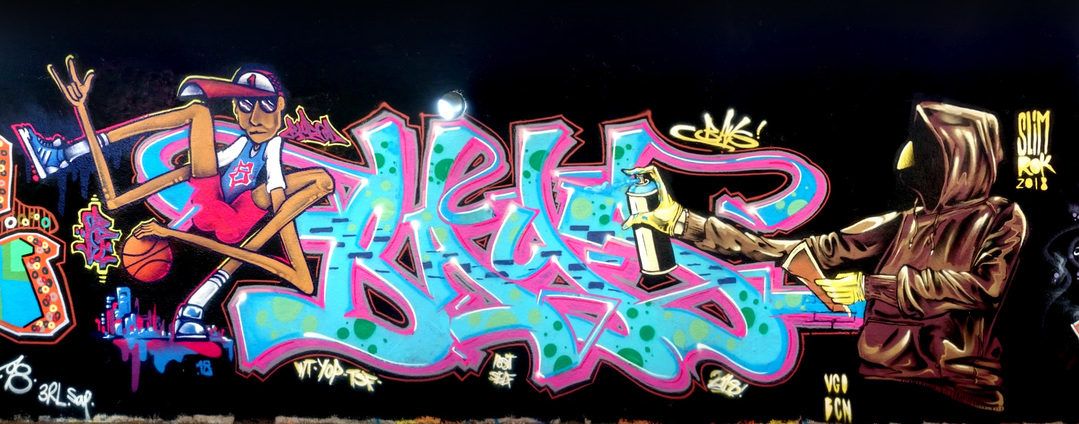 "Wallspot - ANTON SEOANE ""ROKE"" - Agricultura - ROKE - Barcelona - Agricultura - Graffity - Legal Walls - Illustration"