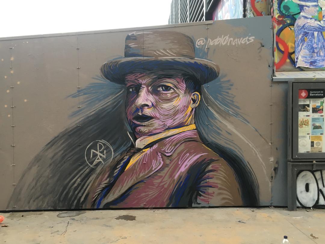 Wallspot - Pablo Navas - Tres Xemeneies - Barcelona - Tres Xemeneies - Graffity - Legal Walls - Illustration