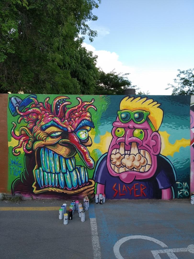 Wallspot - wz_1984 - Parc de la Bederrida - wz_1984 - Barcelona - Parc de la Bederrida - Graffity - Legal Walls -