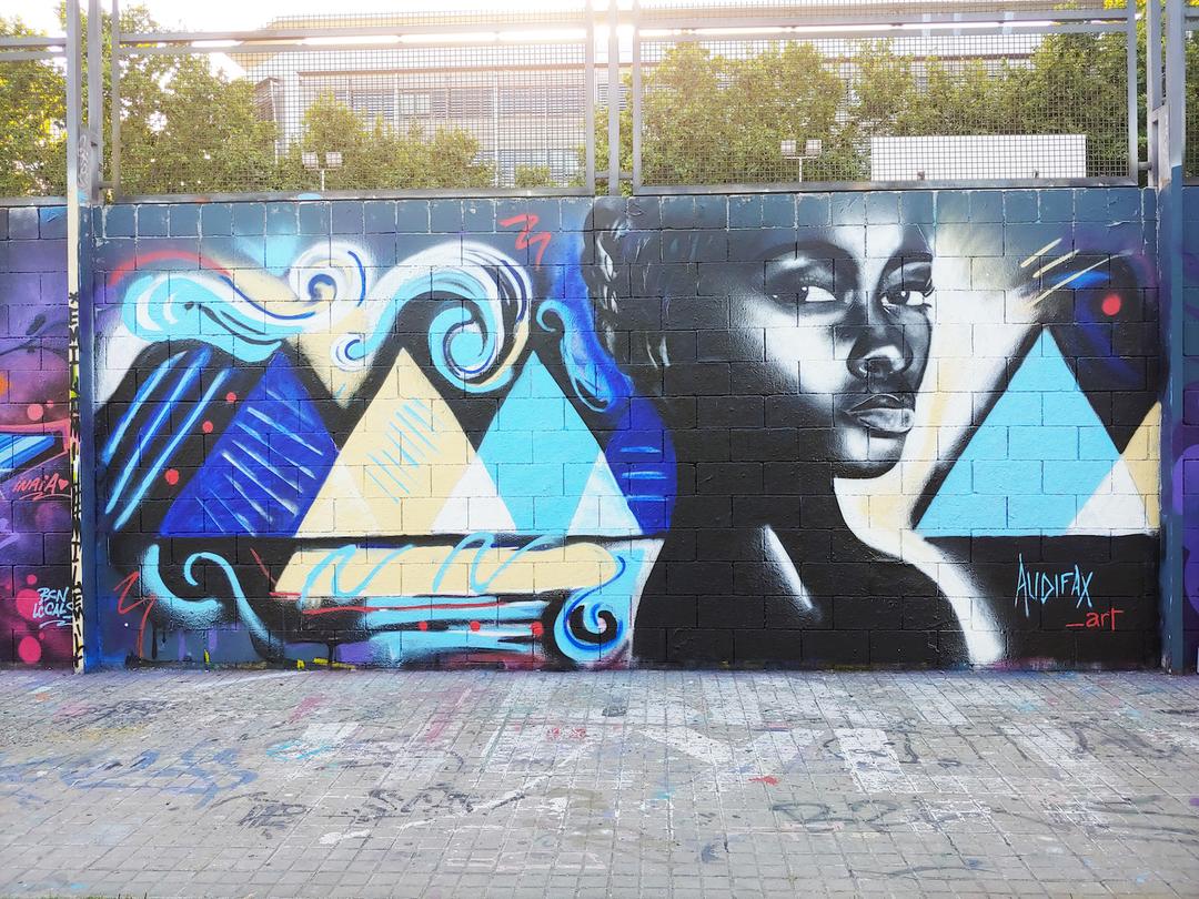 Wallspot - Audifax - Drassanes - Audifax - Barcelona - Drassanes - Graffity - Legal Walls - Il·lustració