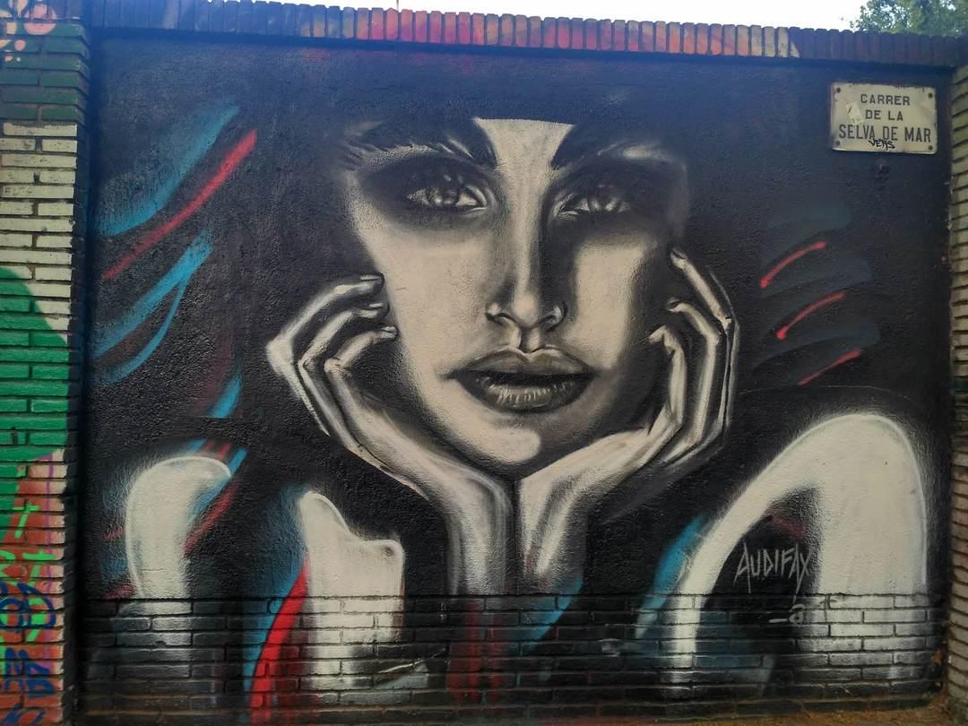 Wallspot - evalop - evalop - Project 10/07/2019 - Barcelona - Selva de Mar - Graffity - Legal Walls - Illustration - Artist - Audifax
