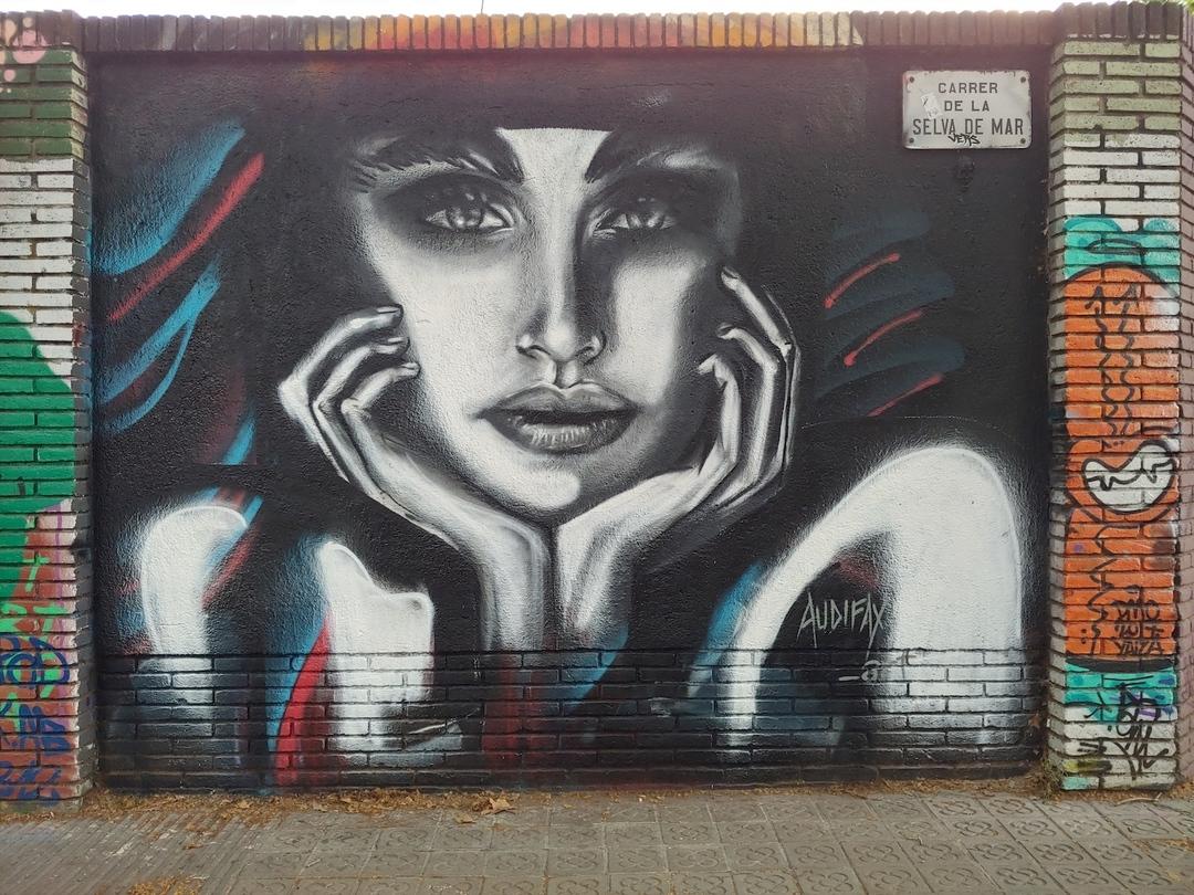 Wallspot - Audifax - Selva de Mar - Audifax - Barcelona - Selva de Mar - Graffity - Legal Walls - Il·lustració