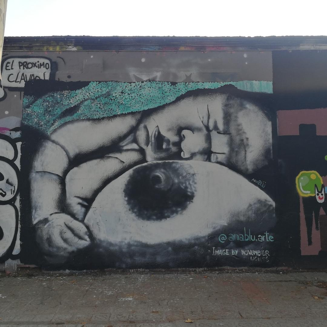 Wallspot - Ana BLÜ -  - Barcelona - Selva de Mar - Graffity - Legal Walls - Illustration, Others
