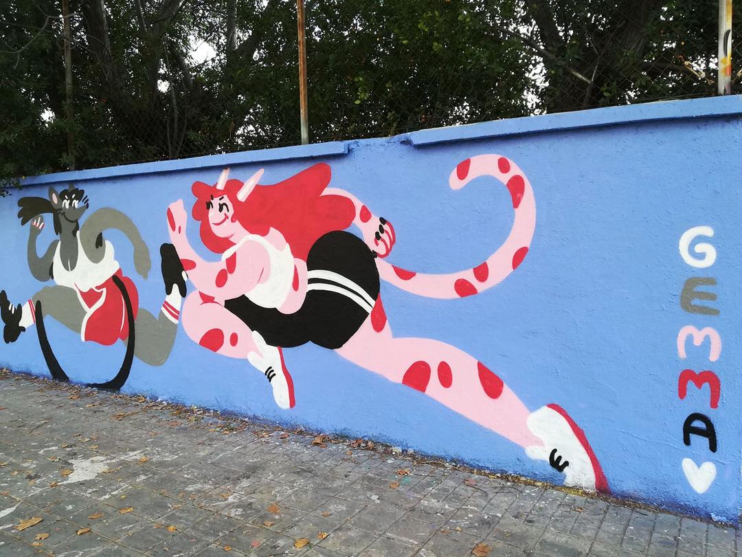 Wallspot - gemfontanals - Cats and Rats - Barcelona - Agricultura - Graffity - Legal Walls - Illustration