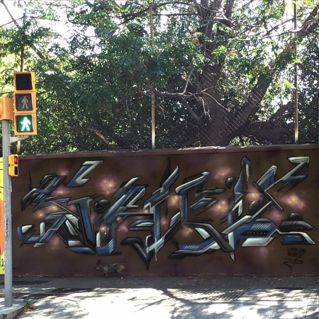 Wallspot - sagie -  - Barcelona - Agricultura - Graffity - Legal Walls - Lletres