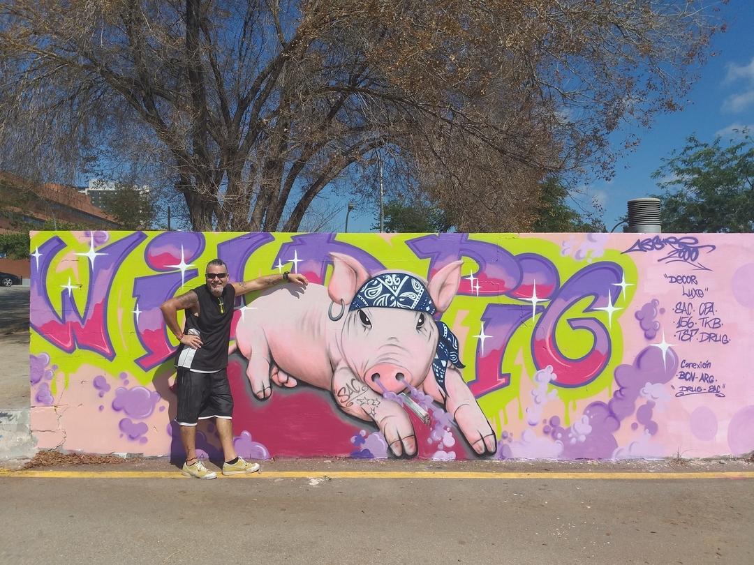Wallspot - ABSURE2000 -  - Barcelona - Parc de la Bederrida - Graffity - Legal Walls -