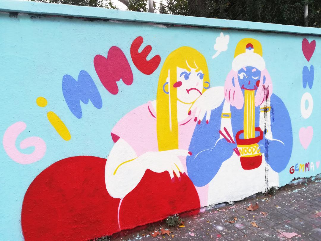 Wallspot - gemfontanals - Ramen - Barcelona - Agricultura - Graffity - Legal Walls - Illustration