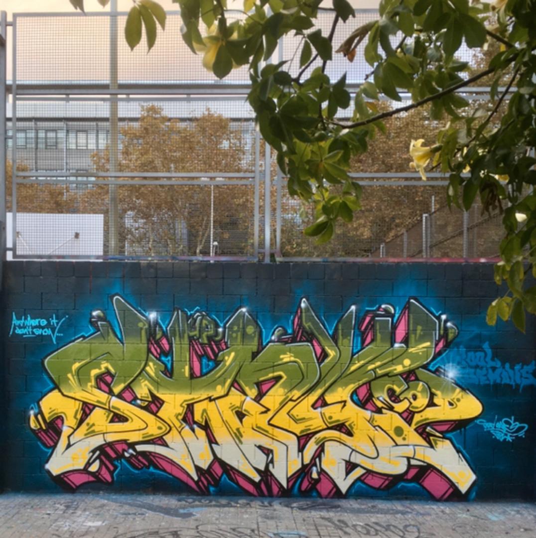 Wallspot - StayOne - Stay piece - Barcelona - Forum beach - Graffity - Legal Walls - Letras